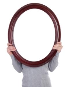 Woman Holding Blank Frame